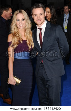 "Joanne Froggatt and James McAvoy arriving for the ""Filth"" premiere at the Odeon Leicester Square, London. 30/09/2013"