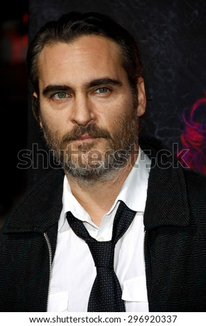 Joaquin Phoenix at the Los Angeles premiere of 'Inherent Vice' held at the TCL Chinese Theatre in Hollywood on December 10, 2014.