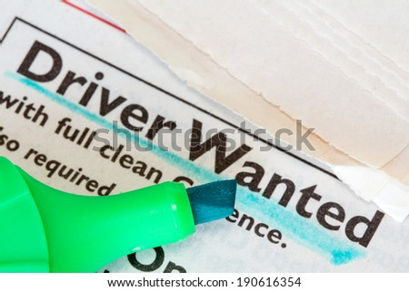 Job ad in the classified section of the paper  - stock photo