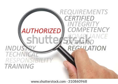 Job competency conceptual, focus on the word Authorized