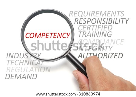 Job competency conceptual, focus on the word Competency