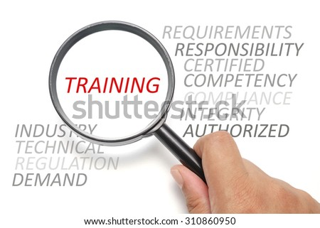 Job competency conceptual, focus on the word Training