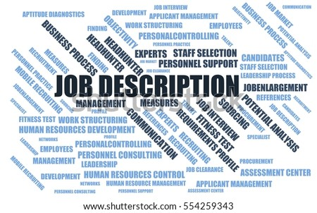 Job Description Word Cloud Wordcloud Terms Stock Illustration