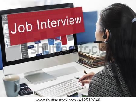 Job Interview Employment Human Resources Concept - stock photo