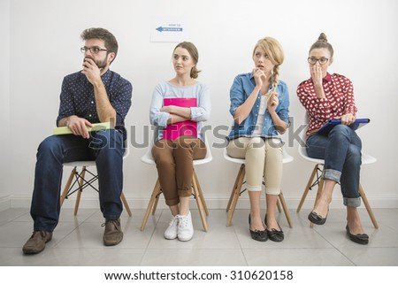 Job interview makes them feel scared - stock photo