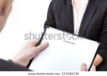 Job interview - trying to get a job - stock photo