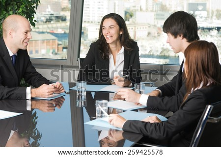 Job meeting - stock photo