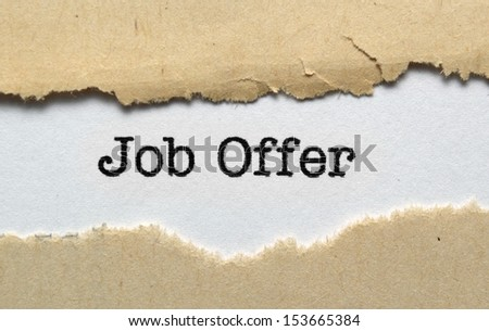 Job offer - stock photo