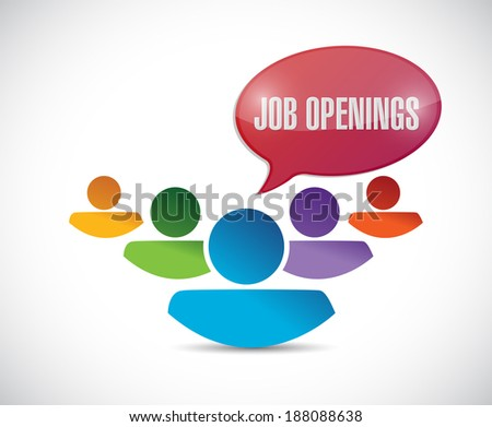 job openings in a team. illustration design over a white background - stock photo