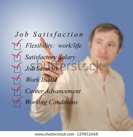 Job satisfaction - stock photo