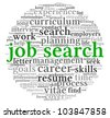 Job search concept in word tag cloud on white background - stock photo