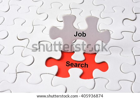 JOB search concept on puzzle - stock photo