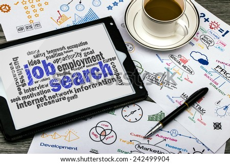 job search concept word cloud - stock photo