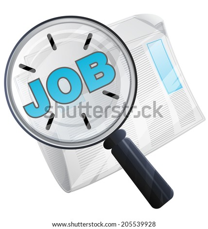 Job Search Icon - Illustration