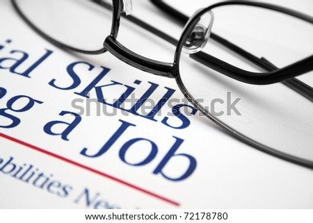 Job skills - stock photo
