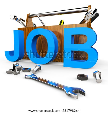 Job Word Showing Hire Me And Career - stock photo