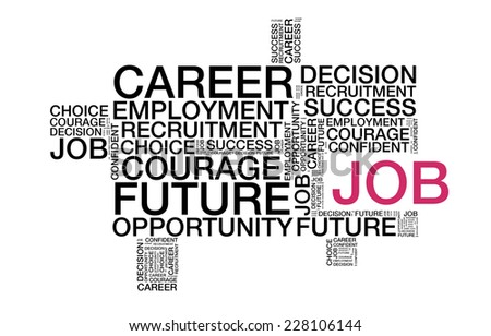Job wordcloud - stock photo