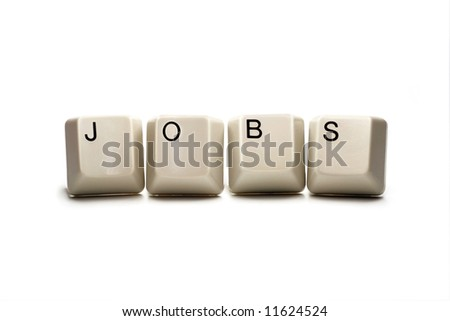 jobs - computer keys, isolated on white
