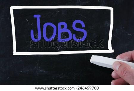 jobs concept - stock photo