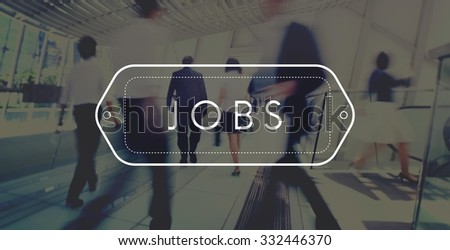 Jobs Employment Career Occupation Application Concept - stock photo