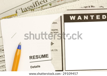 Jobs in the newspaper concept - stock photo