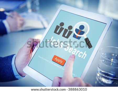 Jobs Search Applicant Career Employment Hiring Concept - stock photo