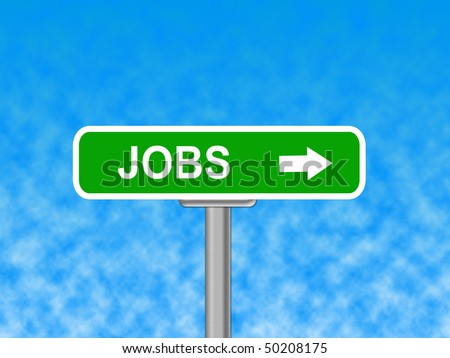 jobs sign - stock photo