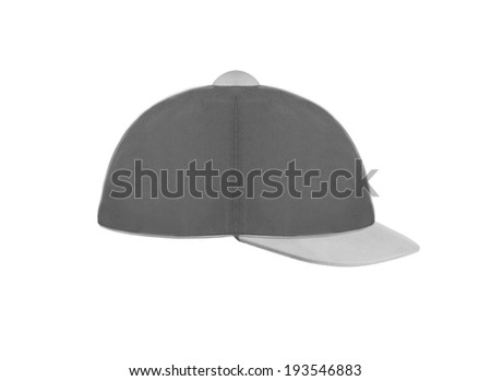 Jockey hat isolated on white