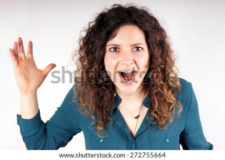 Jocking girl - stock photo