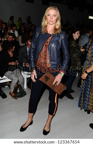 Jodie Kidd at the Issa catwalk show as part of London Fashion Week SS13, London. 15/09/2012 Picture by: Steve Vas
