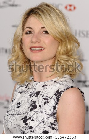 Jodie Whittaker arriving for the Marie Claire's 25th Anniversary celebration at the Cafe Royal Hotel, London. 17/09/2013
