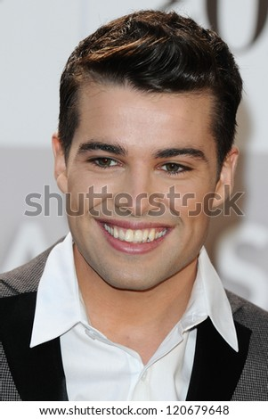 Joe McElderry arriving for the Classic Brit Awards 2012 at the Royal Albert Hall, London. 02/10/2012 Picture by: Steve Vas - stock photo