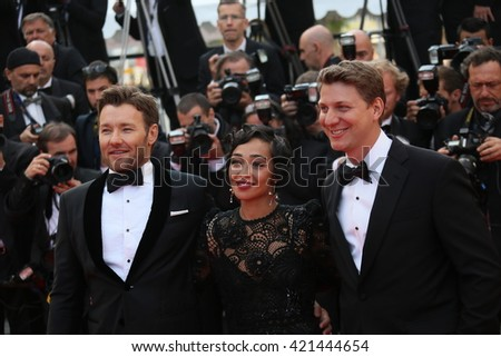 Joel Edgerton attends the 'Loving' Photocall at the annual 69th Cannes Film Festival at Palais des Festivals on May 16, 2016 in Cannes, France. - stock photo