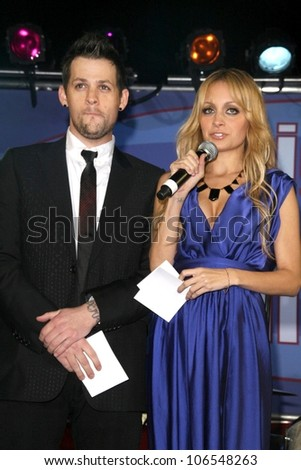 Joel Madden and Nicole Richie  at the 2008 UNICEF Snowflake Lighting. Rodeo Drive, Beverly Hills, CA. 11-22-08