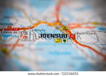 Joensuu On Map Stock Photo 722536033 Shutterstock