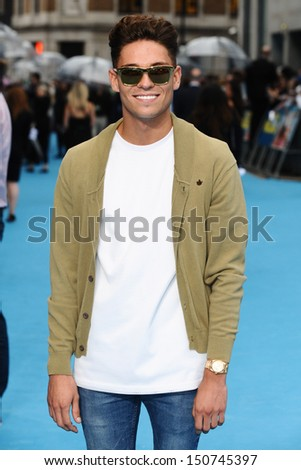 Joey Essex arriving for the 'We're The Millers' European Premiere, Odeon West End, London. 14/08/2013