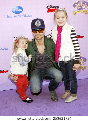 """Joey Lawrence at the Los Angeles premiere of """"Sofia the First: Once Upon a Princess"""" held at the Disney Studios in Los Angeles, United States on November 10, 2012. - stock photo"""