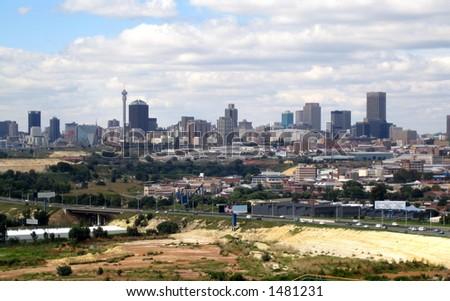 Johannesburg  city skyline - stock photo