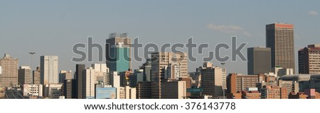 Johannesburg, South Africa - November 14, 2015: The buildings of Johannesburg's central business district