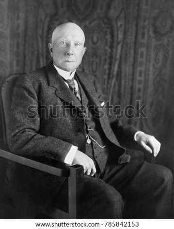 John D. Rockefeller in 1909 portrait by Lawrence P. Ames, N.Y.