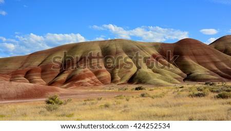 john day fossil beds, oregon - stock photo