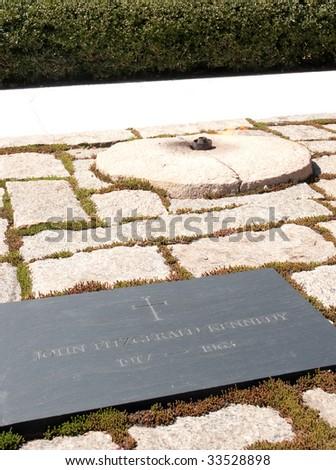 John Fitzgerald Kennedy grave site - stock photo