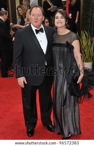 John Lasseter & Wife at the 69th Golden Globe Awards at the Beverly Hilton Hotel. January 15, 2012  Beverly Hills, CA Picture: Paul Smith / Featureflash