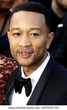 John Legend at the 88th Annual Academy Awards held at the Dolby Theatre in Hollywood, USA on February 28, 2016. - stock photo