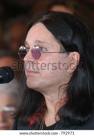 "John ""Ozzy"" Osborn at the honoring of the late Randy Rhoads  to the Hollywood Rock Walk of Fame, Los Angeles, Ca, 03/19/04 - stock photo"