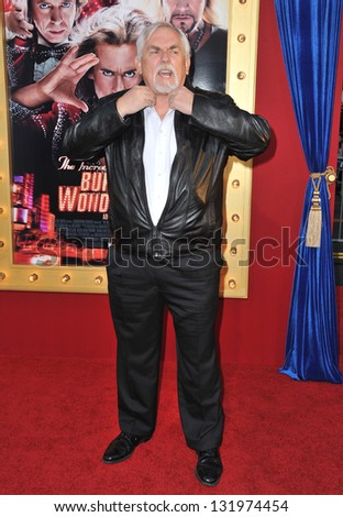 """John Ratzenberger at the world premiere of """"The Incredible Burt Wonderstone"""" at the Chinese Theatre, Hollywood. March 11, 2013  Los Angeles, CA Picture: Paul Smith - stock photo"""