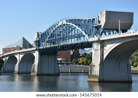 John Ross Bridge on Market Street in Chattanooga, Tennessee