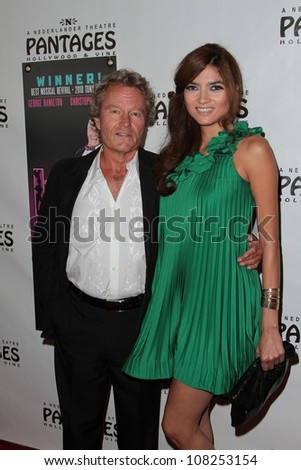 "John Savage, Blanca Bianco at the ""La Cage Aux Folles"" L.A. Premiere, Pantages Theater, Hollywood, CA 07-11-12 - stock photo"
