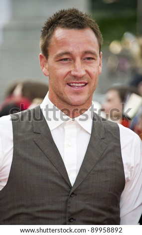 John Terry arriving for the World Premiere of 'Harry Potter & the Deathly Hallows pt2', Trafalgar Square, London. 07/07/2011  Picture by: James McCauley / Featureflash - stock photo