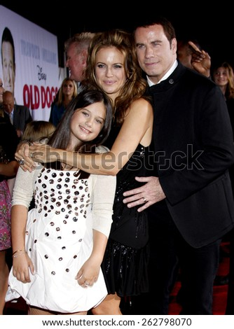 "John Travolta and Kelly Preston at the World Premiere of ""Old Dogs"" held at the El Capitan Theater in Hollywood, California, United States on November 9, 2009."